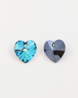 Swarovski Xilion Heart Pendant 18x17.5mm bermuda blue