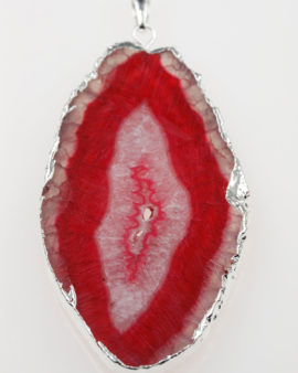 agate pendant red