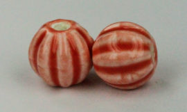 12 mm Fluted round beads - Sold per packs of 10 ( 1=10 pieces )
