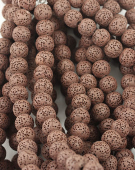Lava Beads 10mm Brown