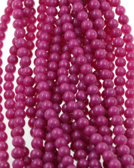 calcite beads fuschia