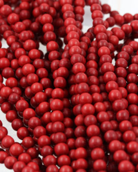 howlite beads red