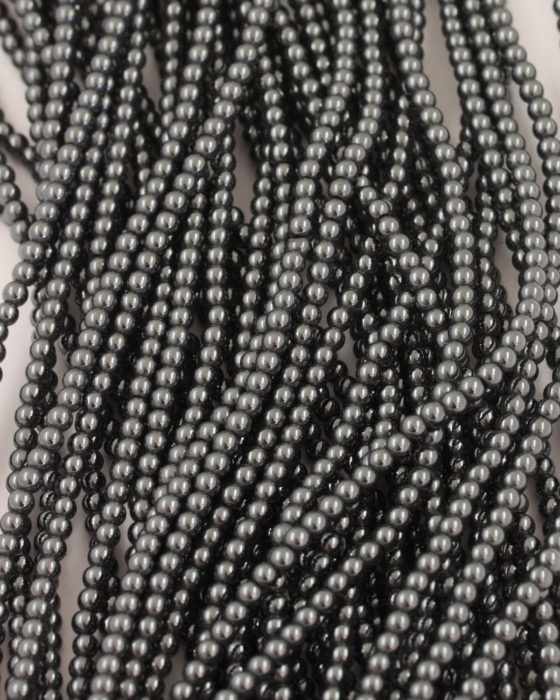 Hematite beads 3mm round smooth