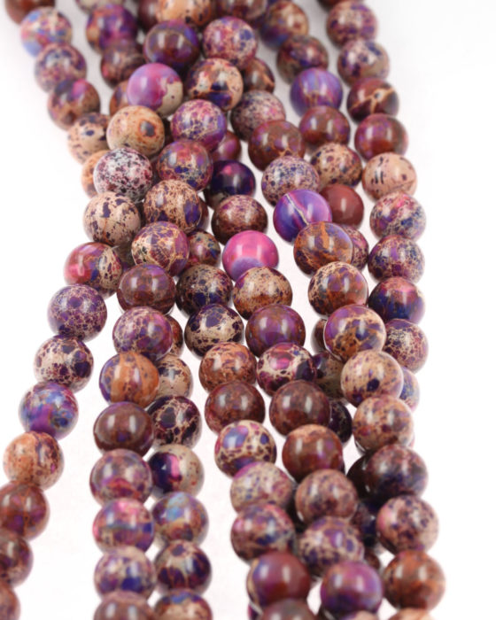 Imperial Jasper beads purple