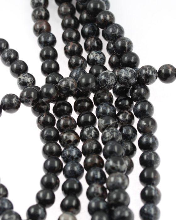 Imperial Jasper beads black
