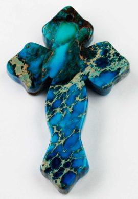 Cross pendant - Imperial Jasper