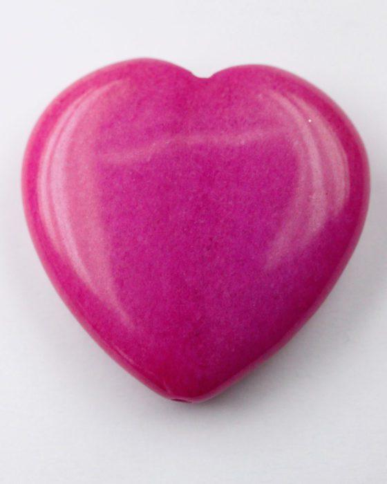 jade heart hot pink