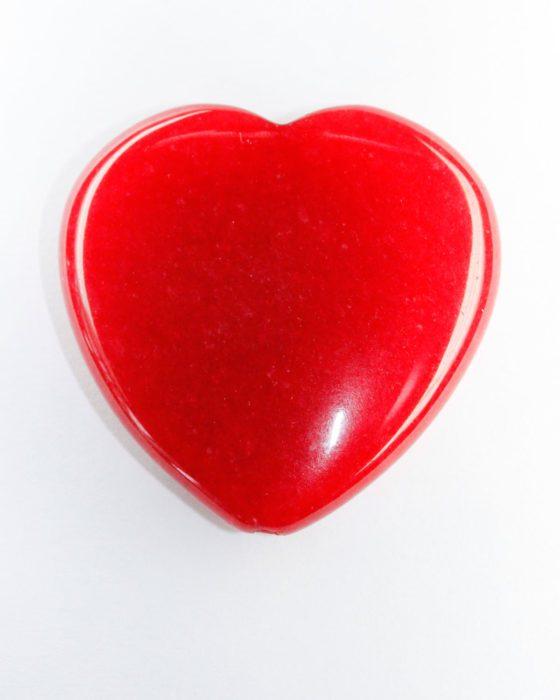jade heart red
