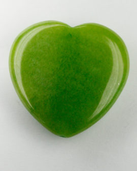 jade heart green