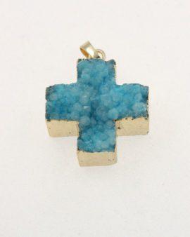 agate cross pendant turquoise