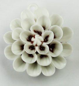 Porcelain Flower pendant