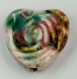 21 x 22 mm - Heart Shaped bead rose design