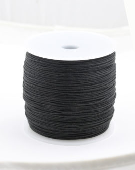 Black cotton cord 1mm 200 meters per roll