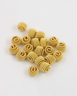 coiled wire bead gold