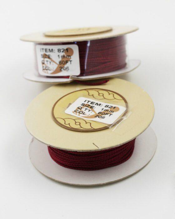 Nylon Woven Cord 1mm crimson