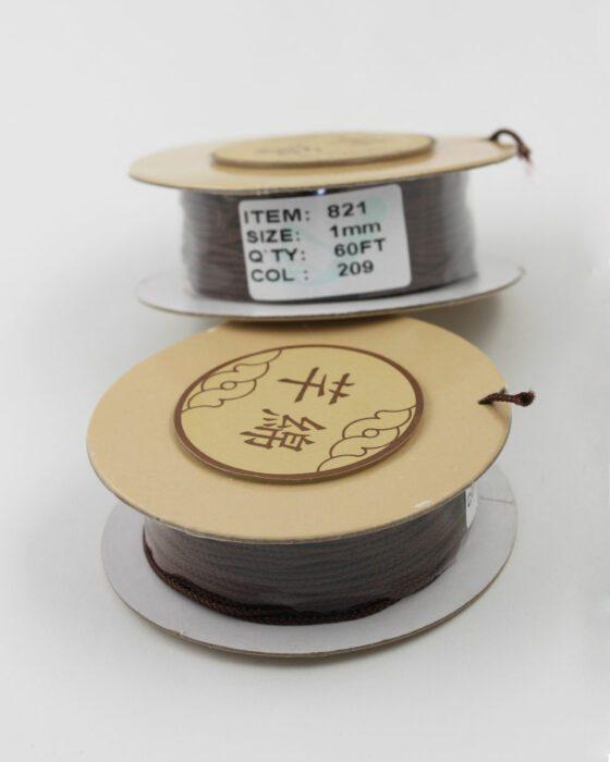 Nylon Woven Cord 1mm dark brown