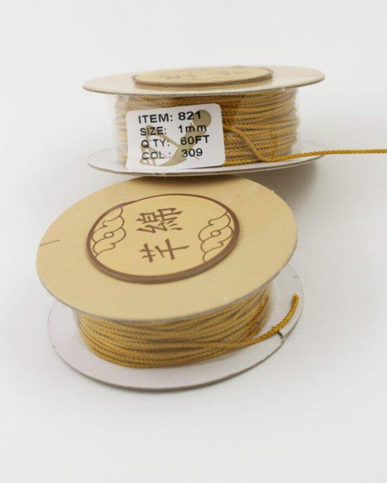 Nylon Woven Cord 1mm mustard