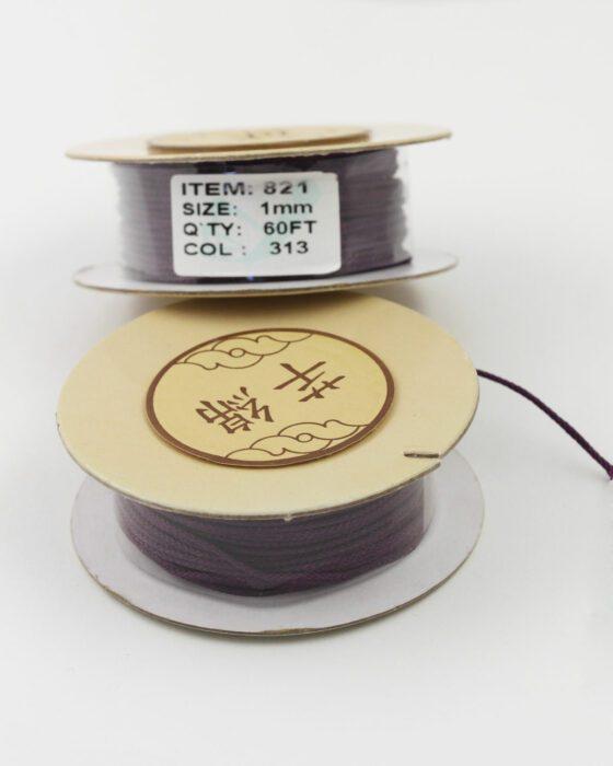 Nylon Woven Cord 1mm purple