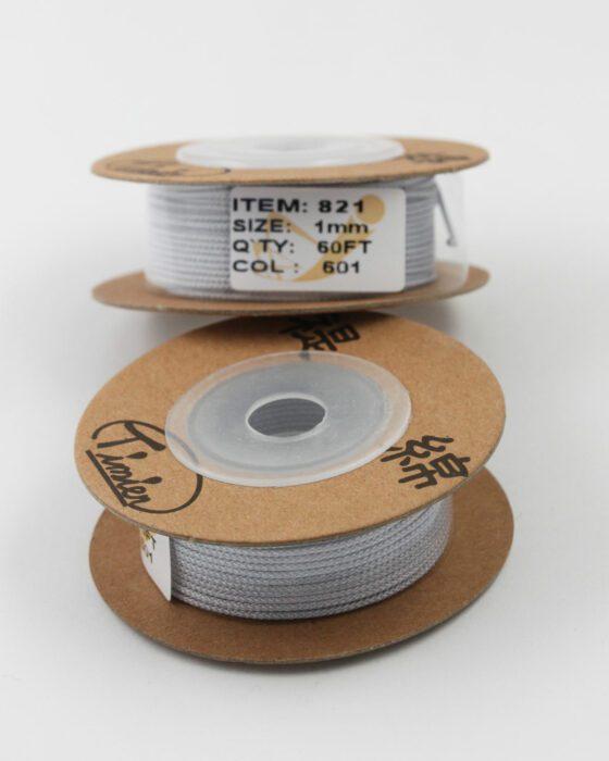 Nylon Woven Cord 1mm grey