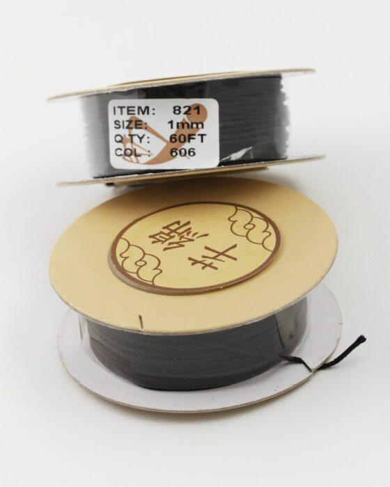 Nylon Woven Cord 1mm black
