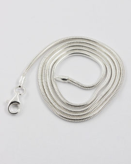 Sterling silver snake chain 45cm 1.6mm