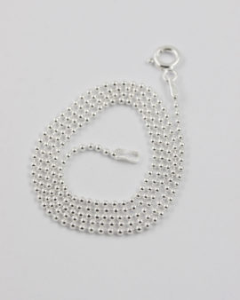 sterling silver ball chain 45cm 1.5mm