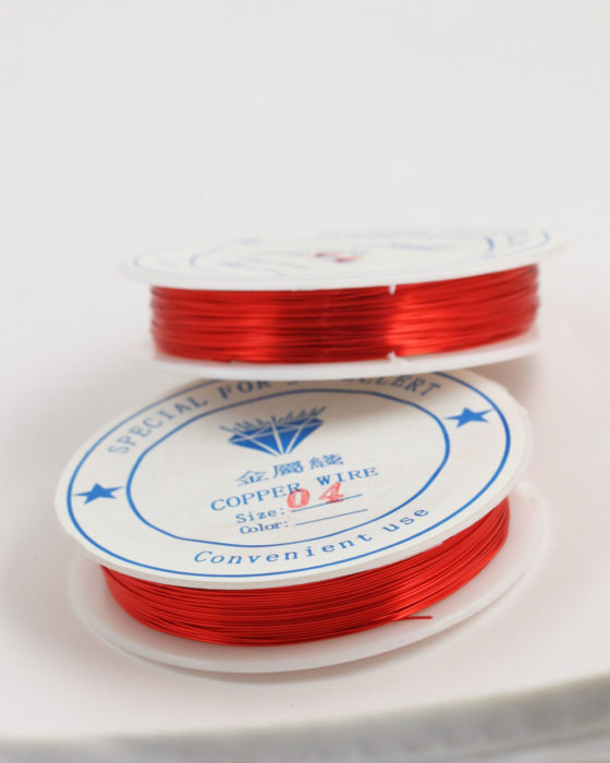 Plated Copper Wire 0.40 mm Red