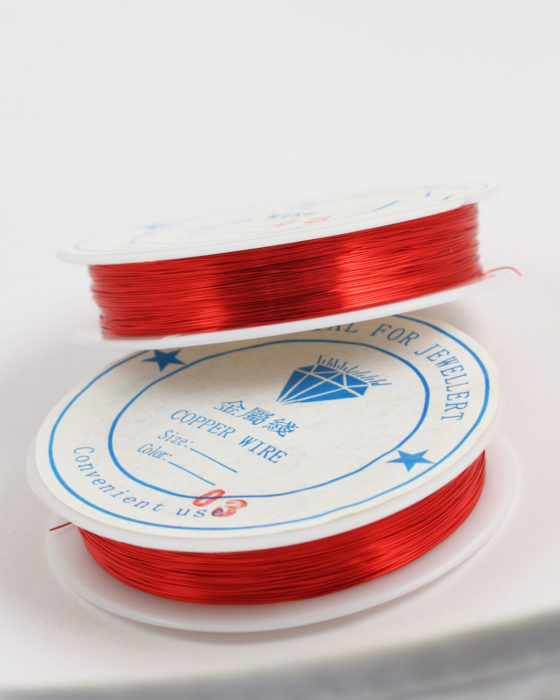Plated Copper Wire 0.38 mm Red