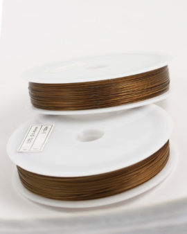Stainless Steel coated wire, 0.45mm Bronze