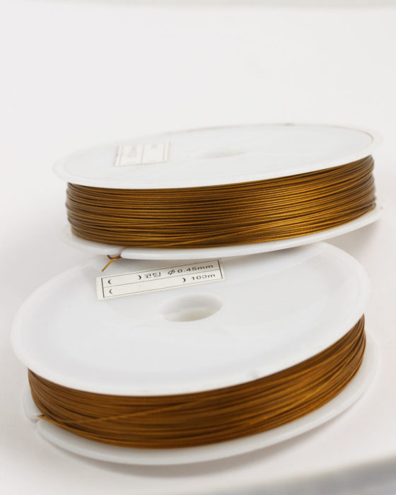 Stainless Steel coated wire, 0.45mm Gold