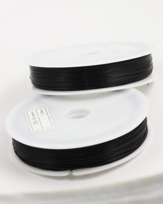 Stainless Steel coated wire, 0.45mm Black
