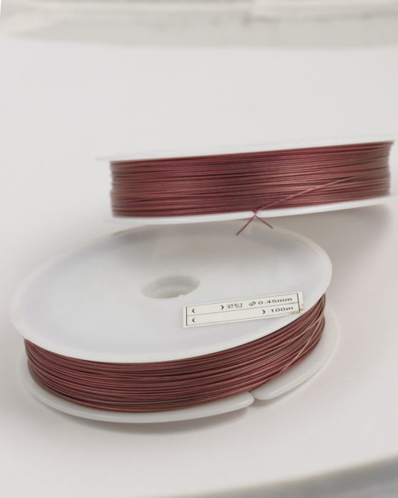 Stainless Steel coated wire, 0.45mm Pink