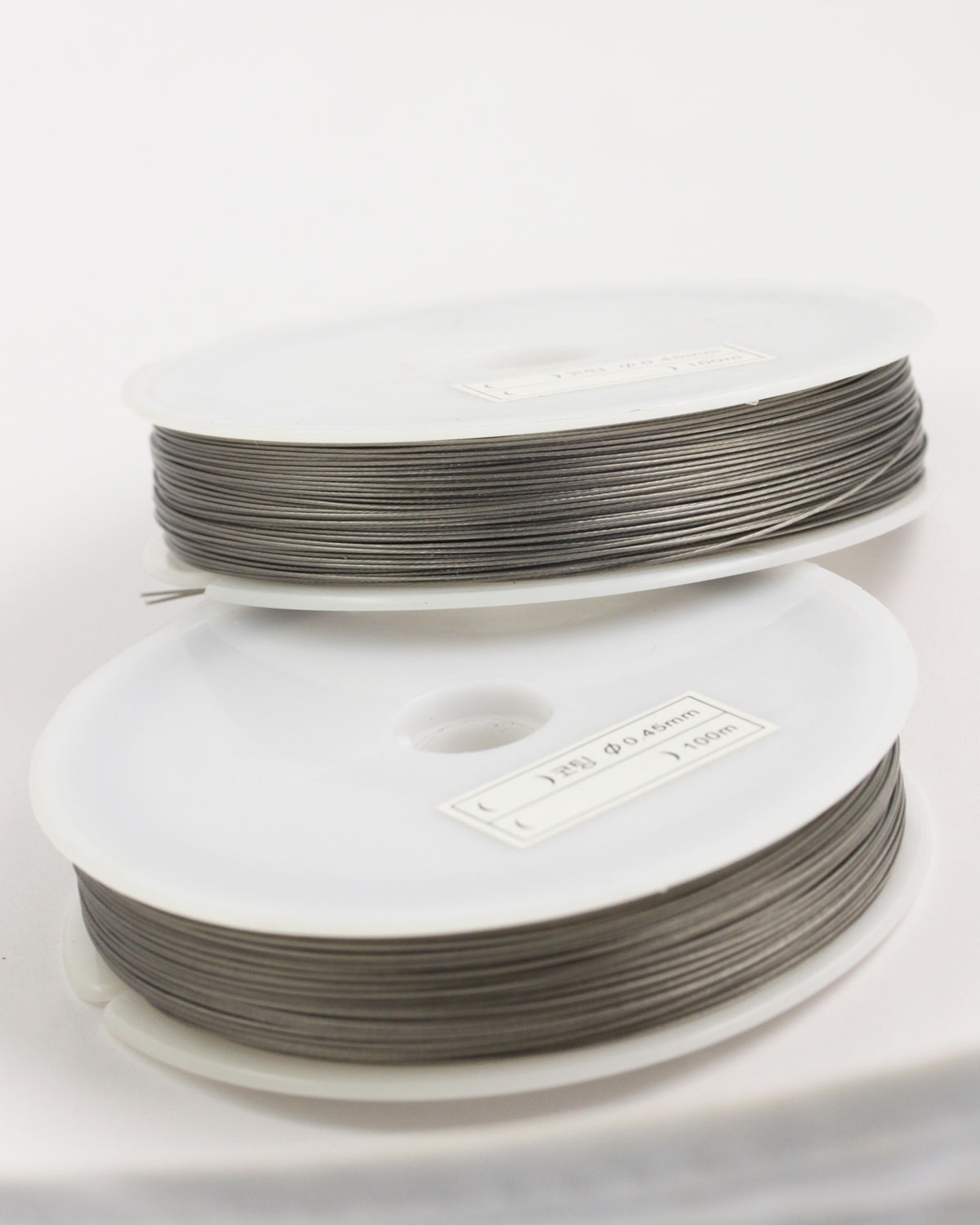 Stainless Steel coated wire, 0.45mm Silver