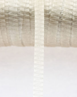 Ribbon, tubular wire, 7 mm. Cord. Sold per metre