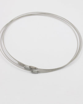flexi neck wire with screw silver