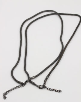 wire mesh necklace black
