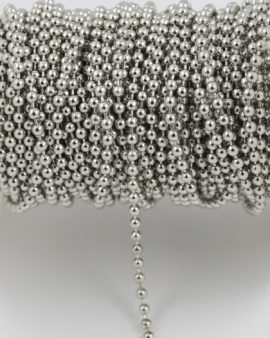 ball chain 2mm antique silver