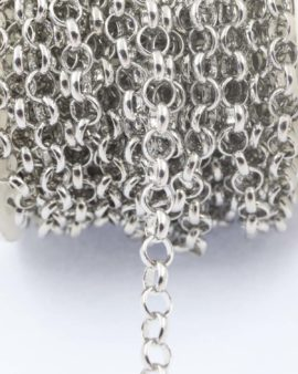 Belcher chain 6mm ring antique silver