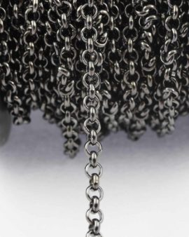 Belcher chain 6mm ring black