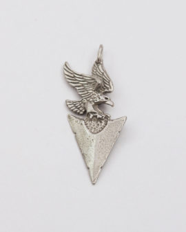 Arrow with eagle pendant