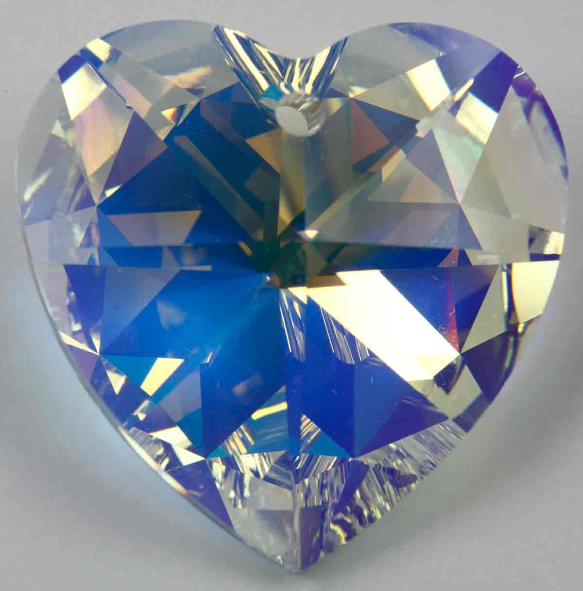 717e5a6b06876 Beveled heart shaped swarovski crystal pendant, #6202, 10.3 x 10 mm. Sold  per pack of 10.