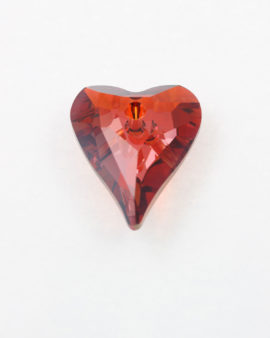 Swarovski crystal wild hearts red magma 27 mm