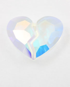 Pendant, Swarovski crystal, Forever One heart  # 6263 - 36 mm - Sold individually