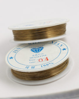 Plated Copper Wire 0.40 mm Gold