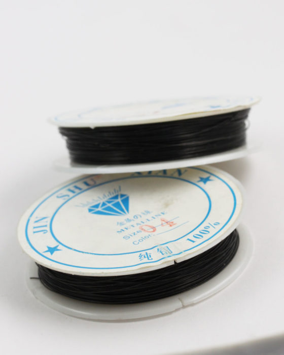 Plated Copper Wire 0.40 mm Black