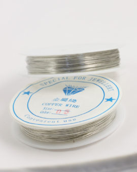 Plated Copper Wire 0.50 mm Silver