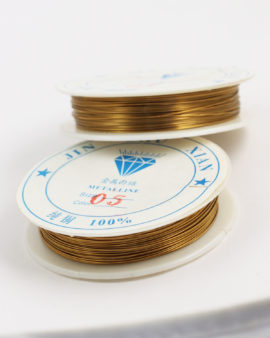 Plated Copper Wire 0.50 mm Gold