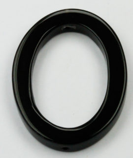25 x 32 mm Obsidian Oval ring - Sold per String - approx. 13 pcs per string