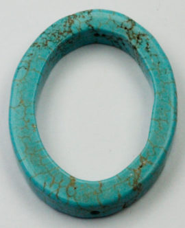 40 x 30 mm Howlite Oval ring - Sold per String - approx. 10 pcs per string