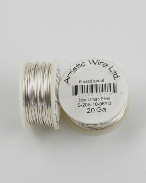 artistic wire 20 gauge non-tarnish silver